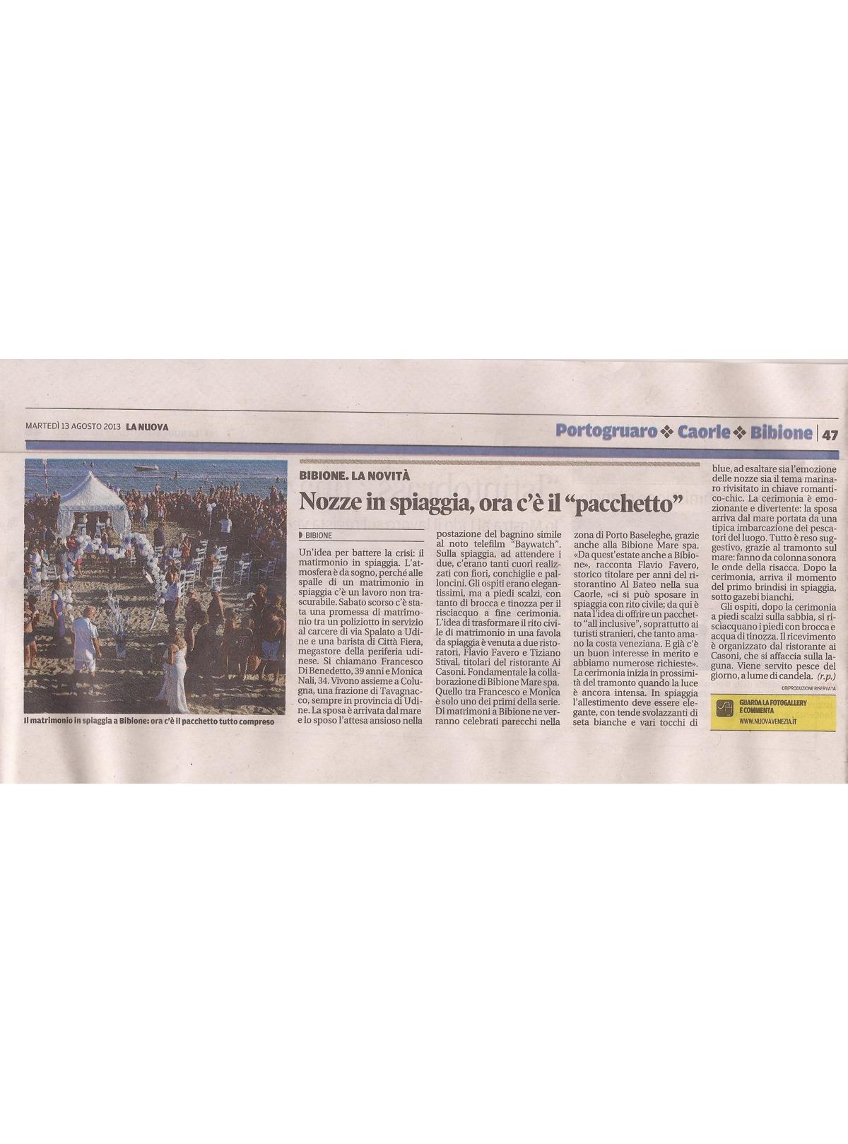 Matrimonio Spiaggia Bibione : Ristorante di pesce bibione matrimonio al mare